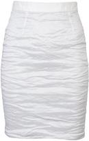 Yigal Azrouel Stretch metal taffeta skirt
