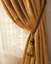 "Horchow Each Paramount Grid Curtain, 84""L"