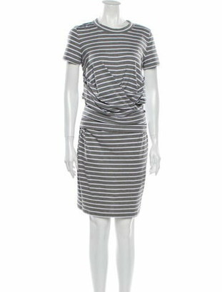 Brunello Cucinelli Striped Mini Dress Grey
