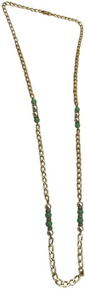 Christian Dior Gold Metal Long necklaces
