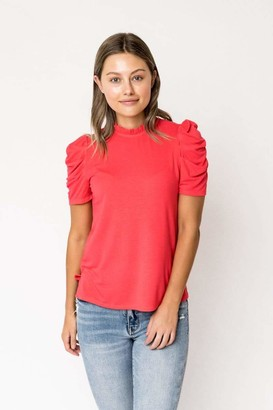 Gibson Ruched Puff Sleeve Top