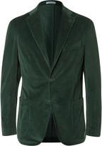 Boglioli - Green Slim-fit Stretch-cotton Corduroy Blazer