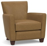 Pottery Barn Irving Square Arm Leather Power Recliner