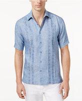 Cubavera Men's 100% Linen Blend Panel Shirt