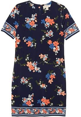 MICHAEL Michael Kors Blooming Bouquet Dress (Coral Peach) Women's Dress