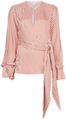 Jonathan Simkhai Striped Twist Wrap Blouse