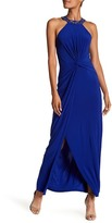 Marina Embellished Front Knot Gown