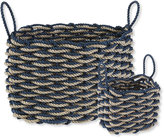 L.L. Bean Nautical Rope Basket, Alternating Stripe