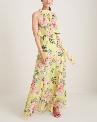 Brinker & Eliza Halter-Neck Popover Maxi Dress