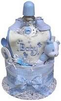 BabyGiftIdea.com Baby Gift Idea DCAKEB2 2 Tiered Boys Diaper Cake