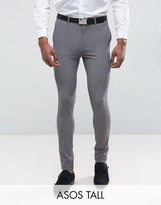 Asos Tall Super Skinny Suit Pants In Grey