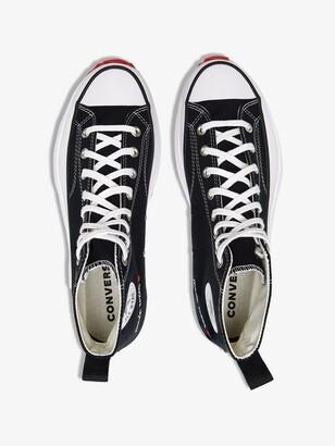 Converse Black Run Star High Top Sneakers