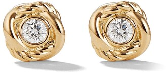 David Yurman 18kt yellow gold and diamond Crossover stud earrings