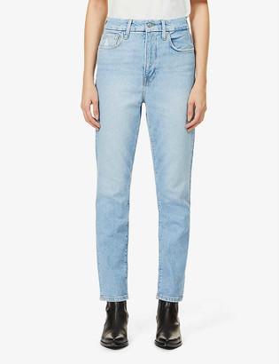 Good American Good Lean slim mid-rise stretch-organic denim jeans