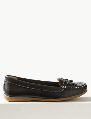 M&S CollectionMarks and Spencer Leather Bow Boat Shoes