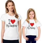 picontshirt I Love My Daughter I Love My Mommy Hearts Family T-Shirt Set 382 M 4-5 yrs