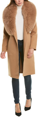 Forte Cashmere Shawl Collar Wool & Cashmere-Blend Coat