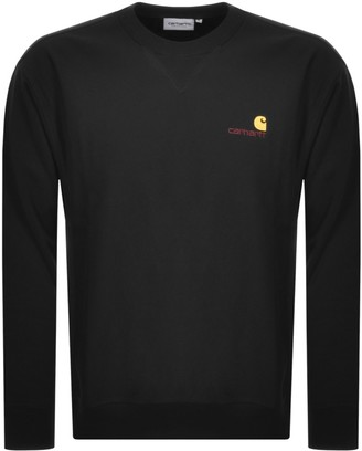 Carhartt Script Logo Sweatshirt Black