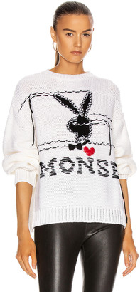 Monse x Playboy Sweater in Ivory | FWRD