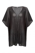 Select Fashion Fashion Womens Black Crochet Lace Cape Cardigan - size S/M