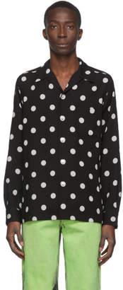 Wacko Maria Black Lyocell Dots Hawaiian Shirt