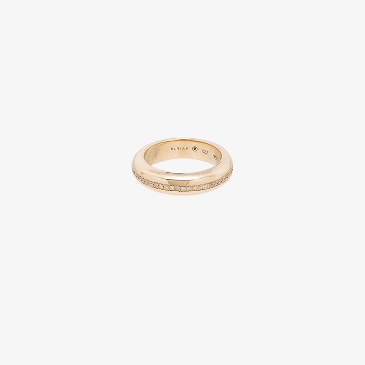 By Pariah 14K yellow gold Victoria diamond ring
