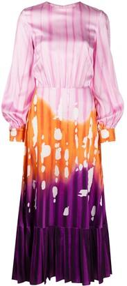 Stella Jean Tie-Dye Midi Dress