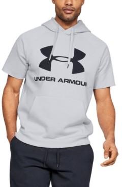 Under Armour Men's Rival Fleece Logo Short Sleeve Hoodie