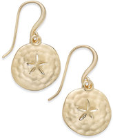 Charter Club Sand Dollar Drop Earrings, Only at Macy's
