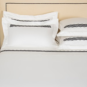 Frette Basket Weave Embroidered Standard Sham