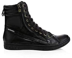 Diesel Men's Hybrid Leather Sneaker Boots
