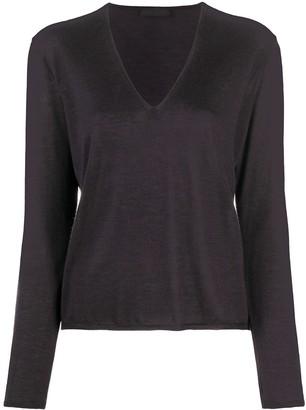 Prada Pre Owned 2000s V-neck fine knit jumper