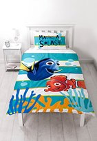 Disney Finding Nemo Dory Panel Print Duvet Set, Polyester-Cotton, Multi-Colour, Single