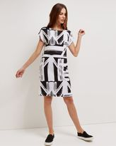 Jaeger Jersey Graphic Print Dress