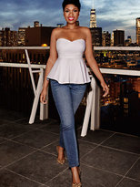 New York & Co. Soho Jeans - Jennifer Hudson Ankle Legging - Runway Blue Wash