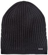 John Varvatos Wool Rib Knit Slouch Hat