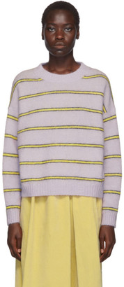 Acne Studios Purple Striped Mohair Sweater