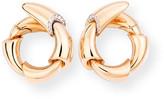 18k Pink Gold Diamond-Edge Clip-On Earrings