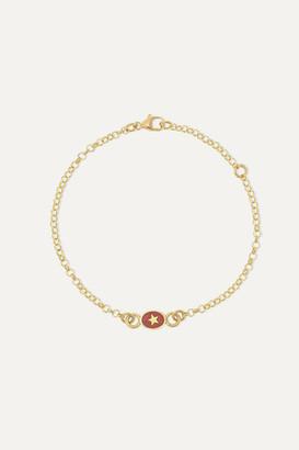 Foundrae Strength 18-karat Gold And Enamel Bracelet