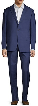 Hickey Freeman Classic Fit Milburn IIM Series Wool Plaid Suit