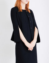 St. John Split-sleeve knitted wool-blend jacket