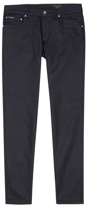 Dolce & Gabbana Dark Blue Slim-leg Jeans