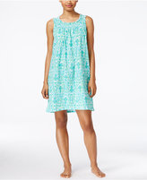 Lauren Ralph Lauren Scoop-Neck Smocked Nightgown