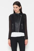Fate Chiffon Leather Jacket