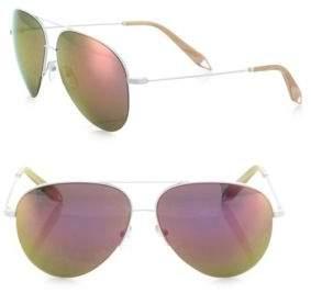 Victoria Beckham Classic Victoria 62MM Mirrored Aviator Sunglasses