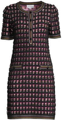 Milly Tweed Knit Mini Dress