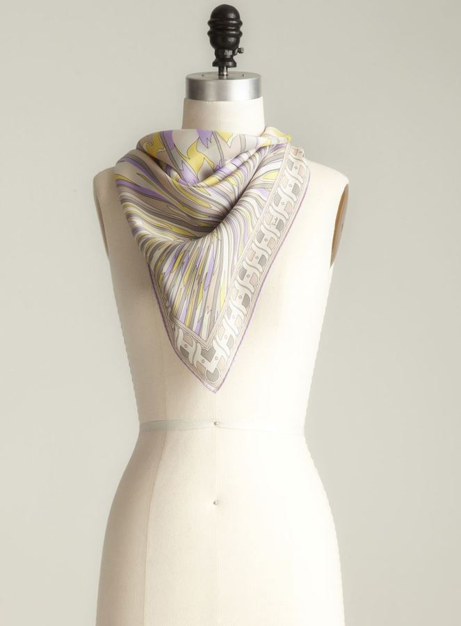 Pucci Scribble Lines Silk Scarf