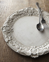 Horchow Whitewashed Wood Charger Plate