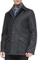 Ermenegildo Zegna Wool-Cashmere-Silk Field Jacket