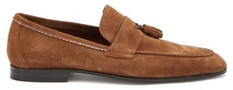 Paul Smith Hilton Signature-stripe Tasselled Suede Loafers - Brown